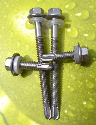 商机中心 库存信息 钢结构 410不锈钢六角带介自钻自攻螺丝钻尾螺丝
