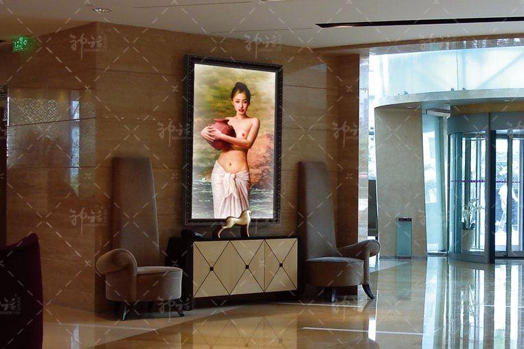 酒店过道楼梯间-led发光画; 酒店过道楼梯间; 发光装饰画应用领域非常