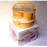 塑料手提餐盒 微波饭盒 塑料餐盒 礼品套装餐盒