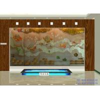 美家玻璃-精彩玻璃-浮雕电视背景