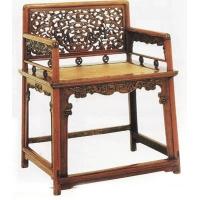 清-黄花梨透雕靠背玫瑰椅