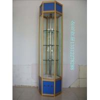 天津精品钛合金展示柜  旋转柜台 六角柜