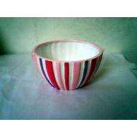 碗形线条花盆