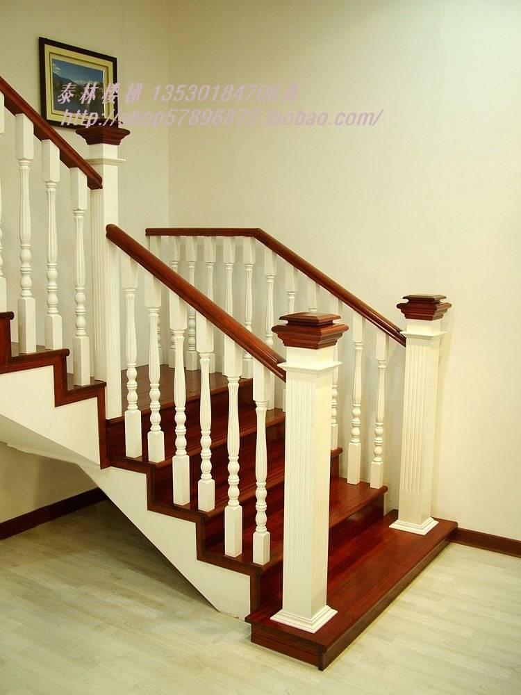 泰林实木楼梯 扶手 踏板 立柱图片