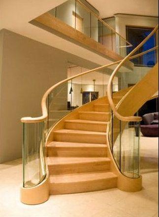 楼梯玻璃护栏图片