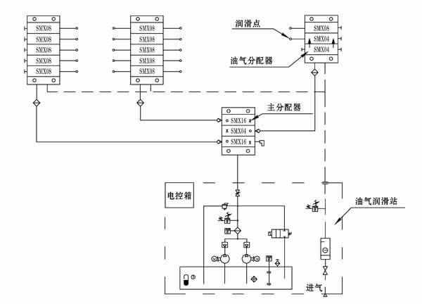 单线串联电路图