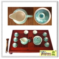 冰裂纹陶瓷茶具
