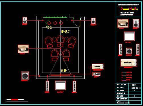 弱电智能布线,家庭影院系统(施工进行中)