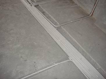 电基础布线施工照片