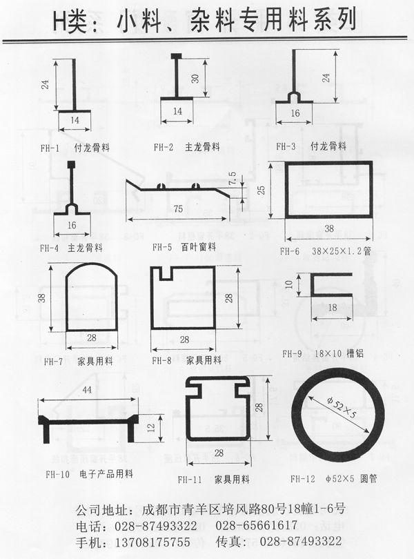 成都H类:小料、杂料专用料系列