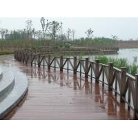 苏州木塑景观桥面第一塑木铺板栏杆河岸湖岸栈道