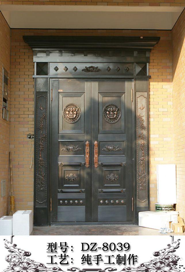 佛山市亿迈加厂家直销2012中式别墅室内铜门上饶滨江花园别墅图片
