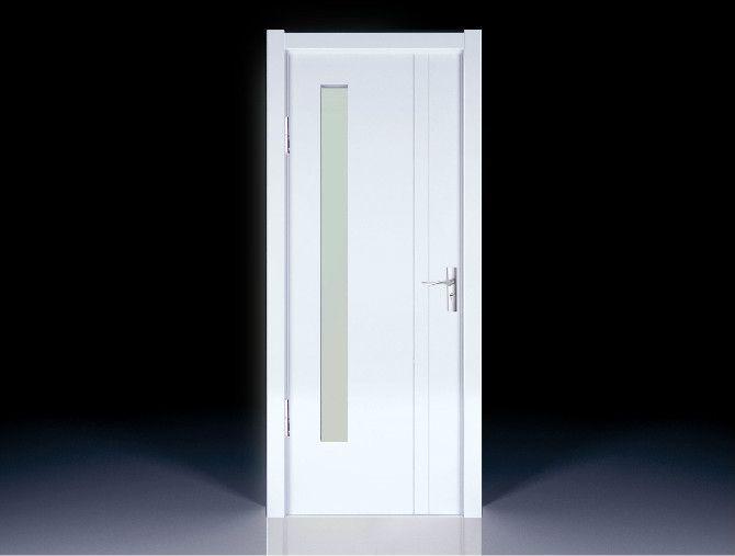欧式夹板木门图片白色