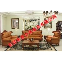 洛卡依 美式实木沙发 客厅沙发 工程沙发 别墅沙发 布艺沙发
