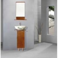 英国黑胡桃木色实木浴室柜