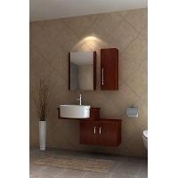 栗子色实木橡木浴室柜