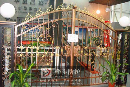 华步铝合金豪华别墅 铝艺护栏产品图片,华步铝合金豪华别墅 铝艺护
