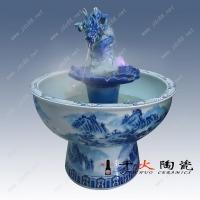 青花龙头空气加湿喷泉,景德镇陶瓷喷泉
