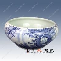 青花喜上梅梢陶瓷水浅