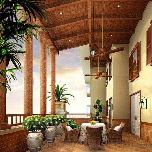 入户花园吊顶_田园风格入户花园吊顶装修设计效果图
