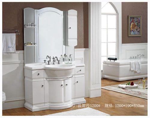 洁仕高卫浴-压克力盆浴室柜 温妮莎1200#
