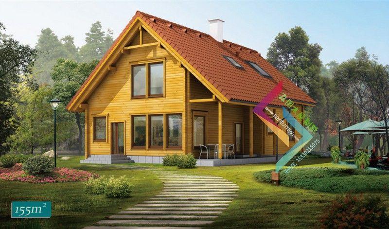设计生产欧洲风格 木制阳光房 防腐木房子图片