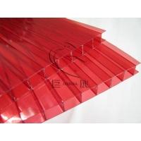 红色阳光板(遮阳采光通道/厂房采光/采光天幕/雨蓬/灯箱广告