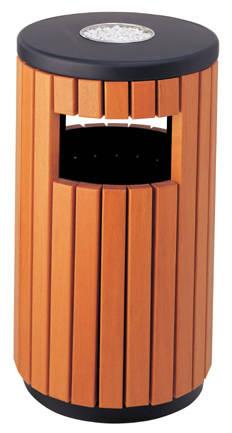 户外木条垃圾桶产品图片