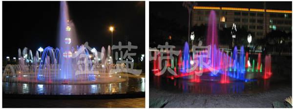 位于音西街道广场,是一座占地42平方米的彩色音乐旱喷,该喷泉共设计水
