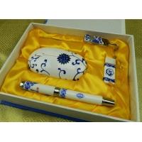 青花瓷创意家居摆饰品,青花瓷商务套装中国红瓷商务套装