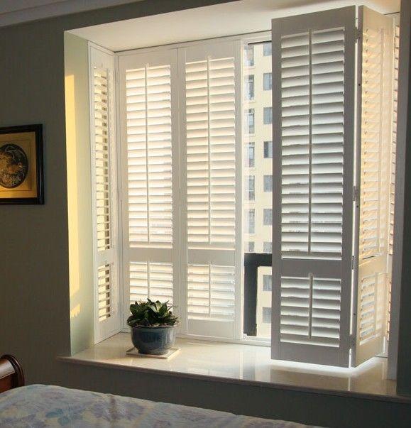 欧式实木百叶窗折叠窗透气窗