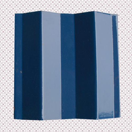四川夹江名山忠福琉璃瓦150×150mm孔雀蓝波形瓦