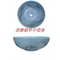 华宇瓷业-景德镇艺术盆-白雪景