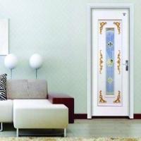 南京实木复合门-南京星星套装门-白色中玻浮雕