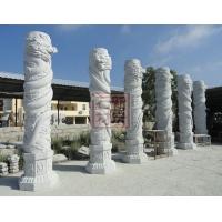 广场石雕龙柱 园林石材龙柱