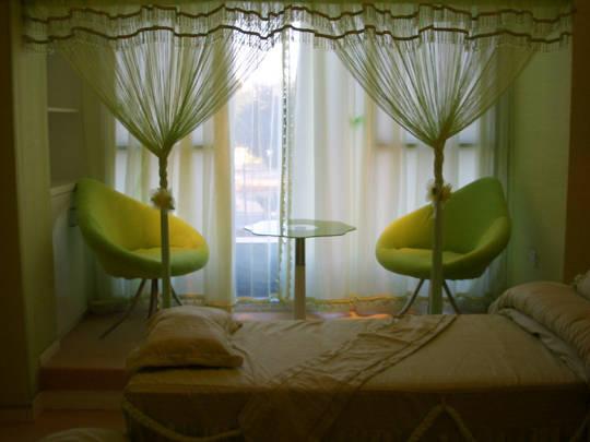 美容院窗帘效果图