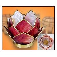 天然材料摆设件贝壳烛台工艺装饰品