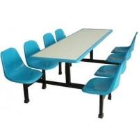 河南玻璃鋼餐桌椅、學校食堂四人不銹鋼餐桌椅