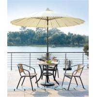 供應花園休閑鋁木桌椅,戶外鋁木家具