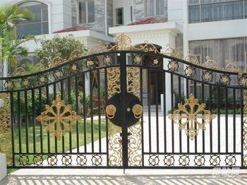 河北区铁艺大门,铁艺围栏,铁艺平移门制作加工兴旺最新设计