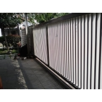 别墅车库自动大门,600kg遥控电动铁艺平移门