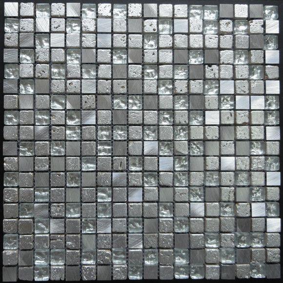 玻璃混金属不锈钢马赛克产品图片