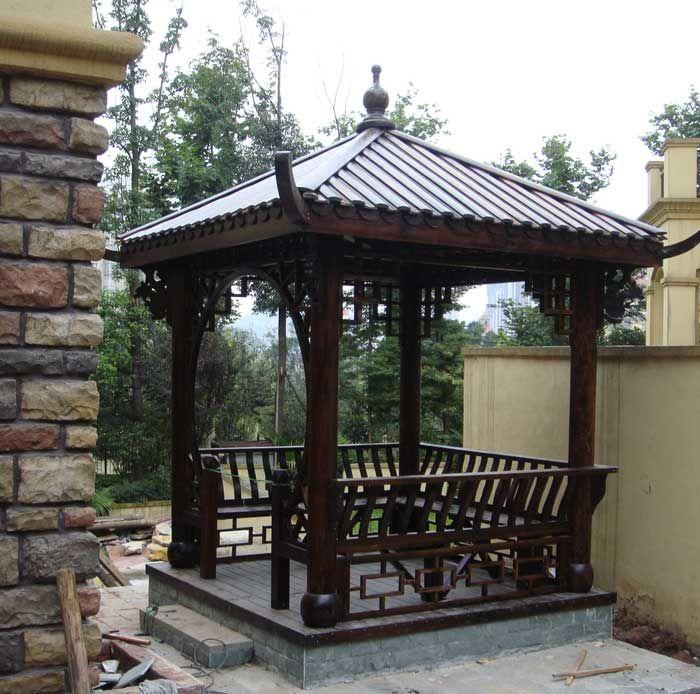 Carbonized wood Pavilion