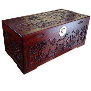 樟木箱 樟木柜 老式樟木箱10661琴棋书画