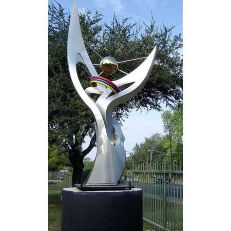 南京雕塑-南京天将雕塑-不锈钢雕塑-1
