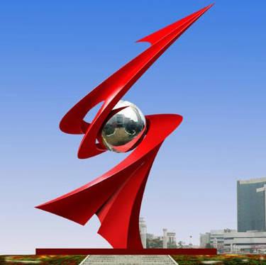 南京雕塑公司-南京天将雕塑-不锈钢雕塑《腾飞》
