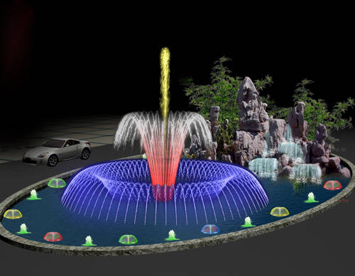 南京雕塑-南京天将雕塑-喷泉-4