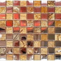 佛山玻璃马赛克,玻璃搭不锈钢马赛克