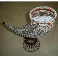 牛角花瓶-艺术装饰竹编|陕西西安青晶竹碳