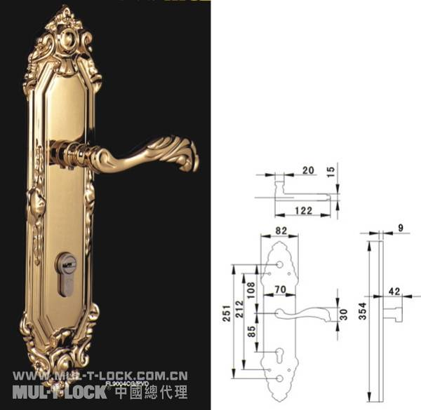 模帝乐防盗豪华套锁/房门锁  配置MUL-T-LOCK锁芯  面板把手是高级纯铜锻造加工而成。  表面负离子精镀PVD,十年不褪色。  可配置三合一、组织锁、工程锁等神奇功能  适合工程室内、室外的木门、金属门安装  通过不同的锁体、锁芯的组合,达到大门锁、房间锁、玄关锁、通道锁等功能要求。 深圳市长恩实业有限公司 深圳市龙岗区平湖镇凤凰大道凤门园右三幢 电话联系:075584653366-853或856(广告勿扰) 传真075584653488 客服QQ:792840365 阿里旺旺商铺:ht